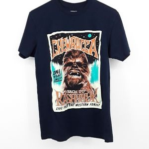 Star Wars Chewbacca Back to Kashyyyk Blue T Shirt